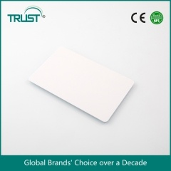 factory price ISO standard 13.56mhz PVC blank white RFID smart card